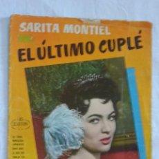 Catálogos de Música: CANCIONERO EL ULTIMO CUPLÉ SARITA MONTIEL. Lote 87438272
