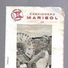 Catálogos de Música: CANCIONEROS. MARISOL EN RUMBO A RIO. 1963. Lote 89029364