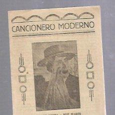 Catálogos de Música: CANCIONERO MODERNO. CARMEN MORELL Y PEPE BLANCO. ULTIMAS CREACIONES.. Lote 89031640
