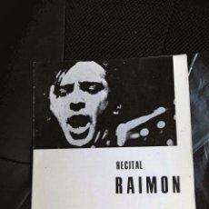 Catálogos de Música: RAIMON PROGRAMA CONCIERTO BLANES GIRONA CANÇO CATALANA NUEVO COMPLETO POESIA. Lote 89247564