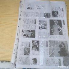 Catálogos de Música: ¡¡UNICO!! RECOPILACION DE AÑOS SOBRE MADONNA 79 HOJAS CON RECORTES,FOTOS E INFORMACION VARIOS PAISE. Lote 89422636