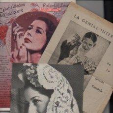 Catálogos de Música: CONCHITA PIQUER : DOS CANCIONEROS Y UNA PUBLICIDAD. Lote 89508932