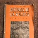 Catálogos de Música: LIBRO.LA MUSICA,ATRAVES DE LOS TIEMPOS. R.BENEDITO (A.1963). Lote 91659553