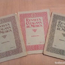 Catálogos de Música: REVISTA CATALANA DE MÚSICA NUM. 2, 3 Y 6 AÑO 1923 DIRECCION AGUSTI GRAU. Lote 92254550