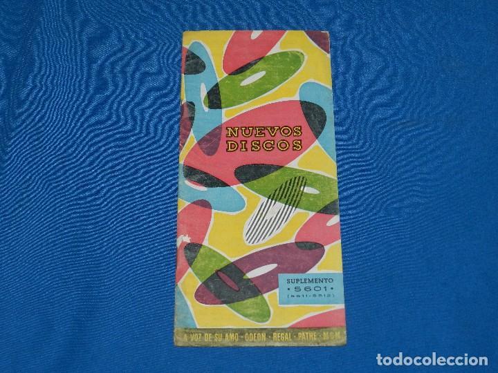 CATALOGO DISCOS - NUEVOS DISCOS SUPLEMENTO 5601 , LA VOZ DE SU AMO, REGAL , ODEON, (Música - Catálogos de Música, Libros y Cancioneros)