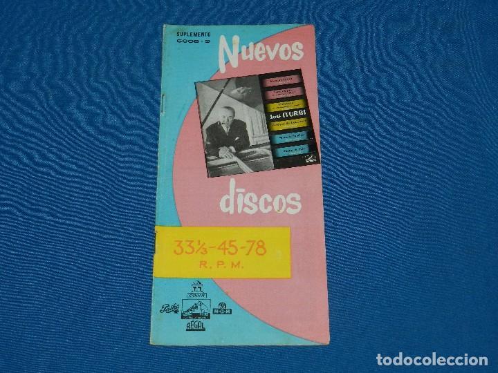 CATALOGO DISCOS - NUEVOS DISCOS SUPLEMENTO 5608-9 LA VOZ DE SU AMO, REGAL ODEON, (Música - Catálogos de Música, Libros y Cancioneros)