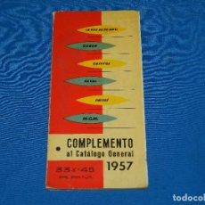 Catálogos de Música: CATALOGO DISCOS - COMPLEMENTO CATALOGO GENERAL 1957 LA VOZ DE SU AMO , ODEON, REGAL. Lote 92884855