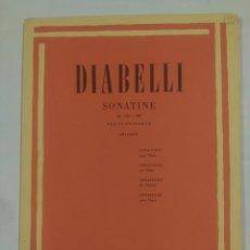 Catálogos de Música: DIABELLI SONATINE OP. 151 E 168. PER PIANOFORTE. MONTANI. RICORDI. TDKR30. Lote 93499465