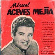 Catálogos de Música: ÉXITOS DEL CANCIONERO - MIGUEL ACEVES MEJÍA (1956). Lote 94978323