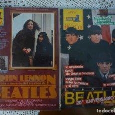 Catálogos de Música: LOTE TRES REVISTA BEATLES POPULAR 1 Y ROCK ESPEZIAL. JOHN LENNON.BEATLES.. Lote 95124171