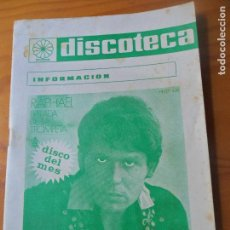 Catálogos de Música: DISCOTECA CATALOGO BOLETIN 1970 - INFORMACION DISCOS - RAPHAEL. Lote 95543783