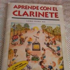 Catálogos de Música: **LIBRO, ----APRENDE CON EL CLARINETE----AÑO 2000, 30/21CM. 78 PÀGINAS**. Lote 95676698