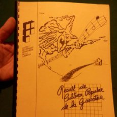 Catálogos de Música: RECULL DE CULTURA POPULAR DE LA GARROTXA (POEMES I CANÇONS, NADALES CARAMELLES...) VER ÍNDICE. Lote 95798299