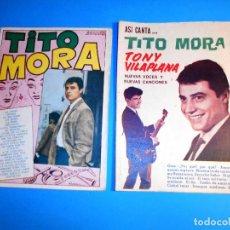 Catálogos de Música: LOTE 2 CANCIONEROS DE TITO MORA. Lote 96103895
