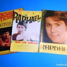 Catálogos de Música: LOTE 3 CANCIONEROS DE RAPHAEL . Lote 96104027