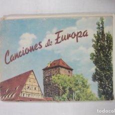 Catálogos de Música: LIBRO DE PARTITURAS. CANCIONES DE EUROPA. MUSEO CATEQUISTICO DIOCESANO LOGROÑO. TDKR41. Lote 97097263