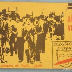 Catálogos de Música: CANCIONERO AL VENT. Lote 97437731