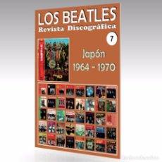 Catálogos de Música: LOS BEATLES - REVISTA DISCOGRÁFICA - Nº 7 - JAPÓN (1964 - 1970) - GUÍA A TODO COLOR. Lote 97925987