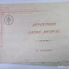 Catálogos de Música: REPERTORIO SACRO MUSICAL. FERMIN IRIGARAY. TDKP12. Lote 98640523