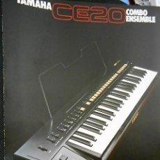 Catálogos de Música: ANTIGUO CATALOGO YAMAHA CE 20. AÑOS 80. EN INGLES. Lote 98678283