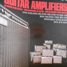 Catálogos de Música: ANTIGUO CATALOGO YAMAHA AMPLIFICADORES PARA GUITARRA. AÑOS 80. EN ESPAÑOL. Lote 98679803