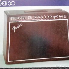 Catálogos de Música: ANTIGUO CATALOGO FENDER AMPLIFICADOR PARA GUITARRA. AÑO 1980. EN INGLES. Lote 98680163
