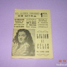 Catálogos de Música: ANTIGUO CANCIONERO DE LILIAN DE CELIS LAS ULTIMAS CANCIONES DE MODA. Lote 99689215