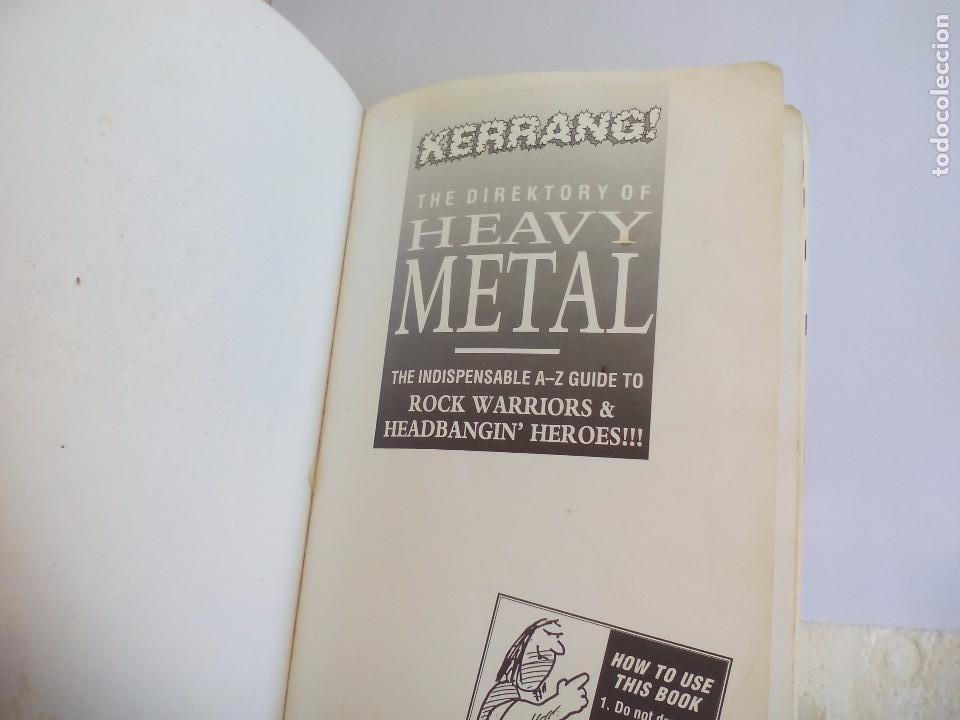 Catálogos de Música: The Direktory of Heavy Metal. Kerrang. A-Z guide Rock Warriors. 1993 1ª ed.Guía de grupos heavy - Foto 7 - 100546251
