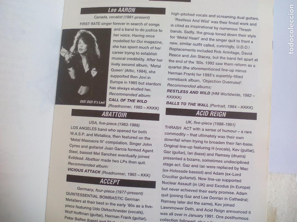 Catálogos de Música: The Direktory of Heavy Metal. Kerrang. A-Z guide Rock Warriors. 1993 1ª ed.Guía de grupos heavy - Foto 8 - 100546251