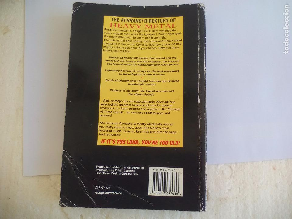 Catálogos de Música: The Direktory of Heavy Metal. Kerrang. A-Z guide Rock Warriors. 1993 1ª ed.Guía de grupos heavy - Foto 9 - 100546251
