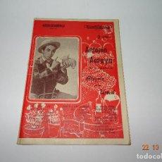 Catálogos de Música: ANTIGUO CANCIONERO DE ANTONIO AMAYA - EN EL ESPECTÁCULO ALEGRIA PARA USTED. Lote 101398023
