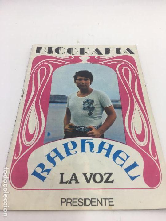BIOGRAFIA RAPHAEL , LA VOZ , EDITORIAL PRESIDENTE 1970 (Música - Catálogos de Música, Libros y Cancioneros)
