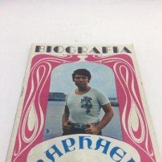 Catálogos de Música: BIOGRAFIA RAPHAEL , LA VOZ , EDITORIAL PRESIDENTE 1970 . Lote 103008923