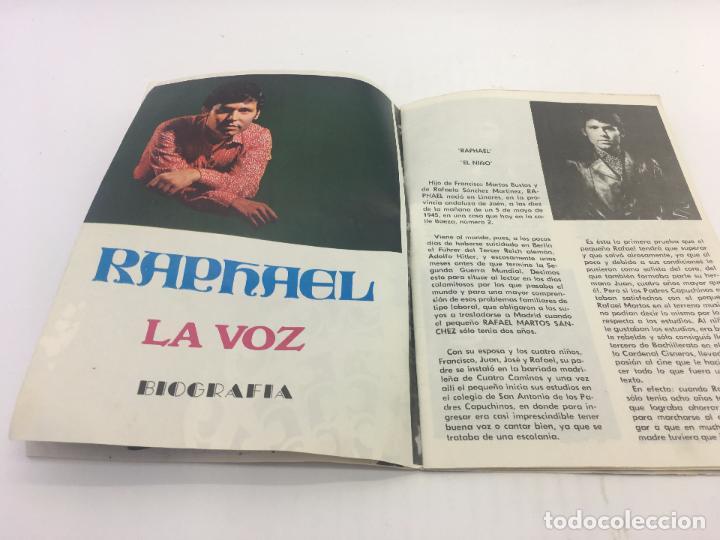 Catálogos de Música: BIOGRAFIA RAPHAEL , LA VOZ , EDITORIAL PRESIDENTE 1970 - Foto 3 - 103008923