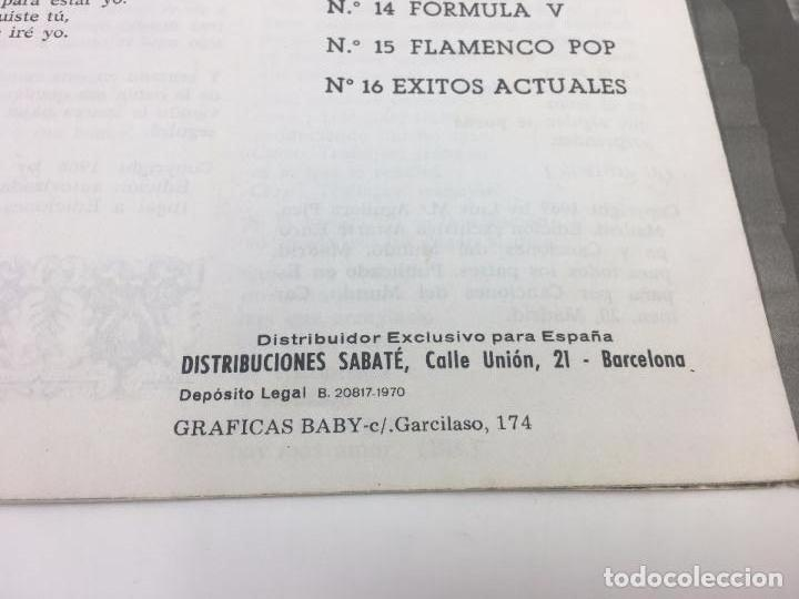 Catálogos de Música: CANCIONERO HITS PRES , FORMULA V , - 1970 - Foto 3 - 103016787