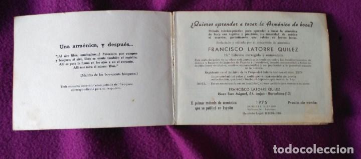 Catálogos de Música: MÉTODO PARA APRENDER LA ARMÓNICA. - Foto 2 - 103503243