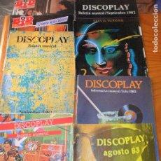 Catálogos de Música: LOTE DE 8 DISCOPLAY BID, BOLETIN MUSICAL CATALOGO DE MUSICA 80'S. Lote 103940595