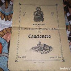 Catálogos de Música: MUY RARO CANCIONERO DE LA REAL COFRADÍA DE NUESTRA SEÑORA VIRGEN DE LA CABEZA ANDUJAR (JAEN)AÑO 1956. Lote 132898566