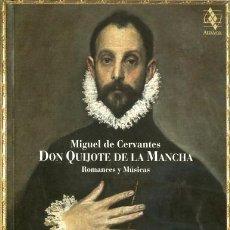 Catálogos de Música: DON QUIJOTE DE LA MANCHA. ROMANCES Y MÚSICAS. Lote 104905019
