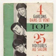 Catálogos de Música: REVISTA TOP 1964 / 4 GARCONS DANS LE VENT // BEATLES. Lote 107247811