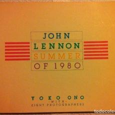 Catálogos de Música: JOHN LENNON SUMMER OF 1980 - YOKO ONO CON 8 FOTÓGRAFOS - PERIGEE BOOKS - 1983 ED. AMERICANA. Lote 107575759