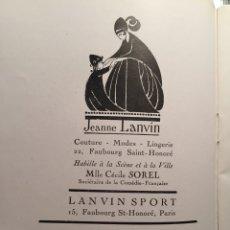 Catálogos de Música: ANTIGUO FOLLETO PARIS TEMPORADA MUSICA ACADEMIE NATIONALE MUSIQUE ET DANSE.- 1926 - GAZETTE L'OPERA. Lote 107756992