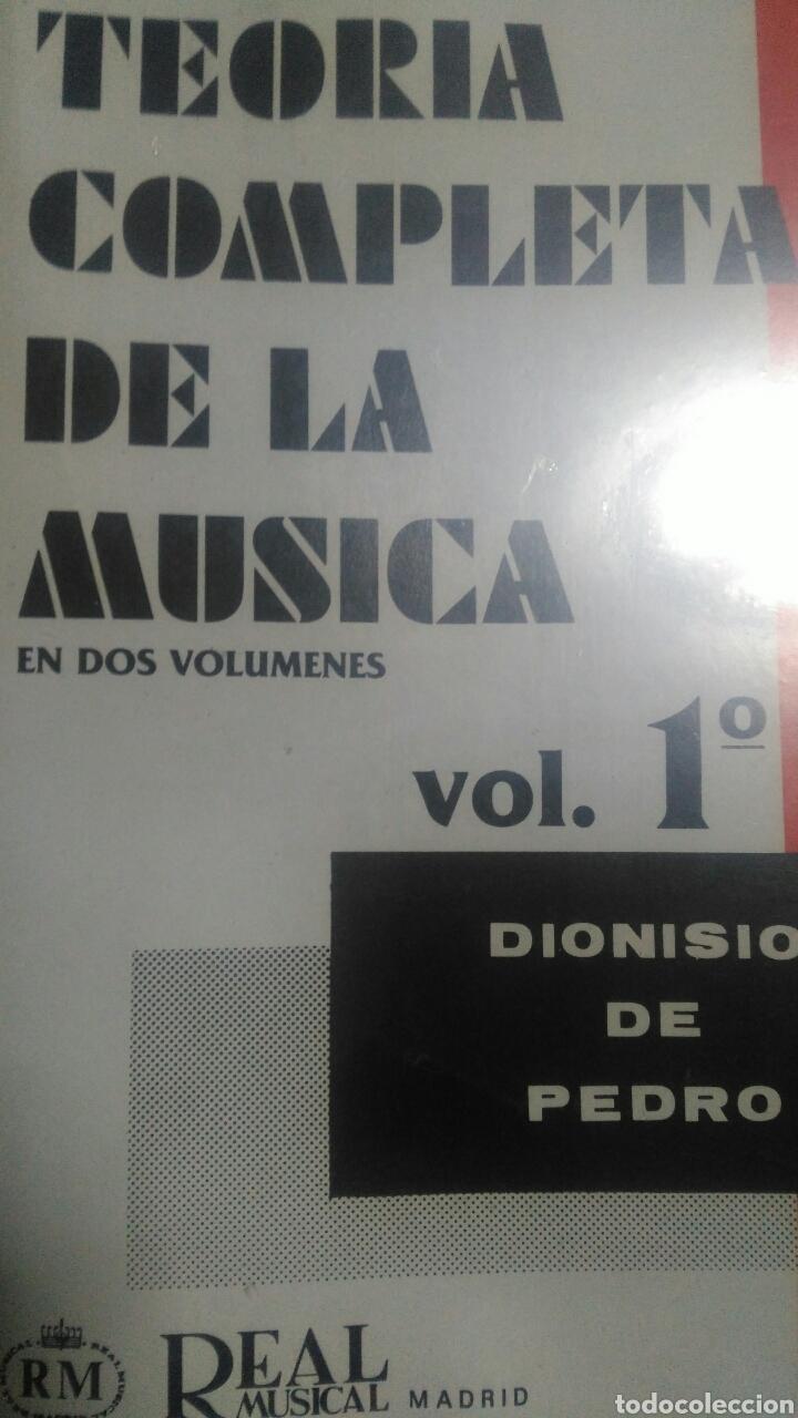 TEORÍA COMPLETA DE LA MÚSICA. EN DOS VOLÚMENES. VOLUMEN 1°. DIONISIO DE PEDRO. REAL MUSICAL DE MADRI (Música - Catálogos de Música, Libros y Cancioneros)