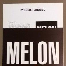 Catálogos de Música: CARTEL PUBLICITARIO PROMOCIONAL & CUARTILLA. MELON DIESEL. EPIC 30 X 21 CM. NUEVO. Lote 109207467