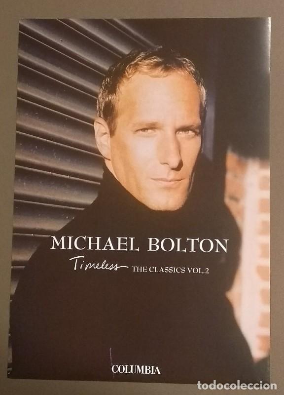 CARTEL PUBLICITARIO PROMOCIONAL MICHEL BOLTON. TIMELESS. THE CLASSICS II. SONY. 30 CM. NUEVO (Música - Catálogos de Música, Libros y Cancioneros)