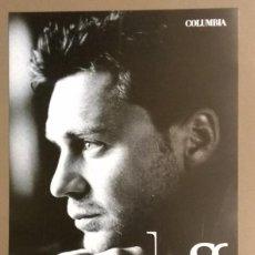 Catálogos de Música: CARTEL PUBLICITARIO PROMOCIONAL. JOSS. DIEZ CANCIONES.. SONY. 30 CM. NUEVO. Lote 109210947