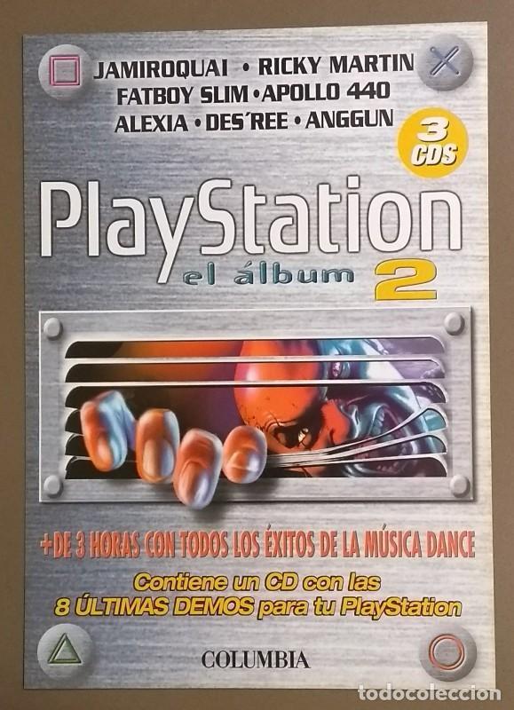 CARTEL PUBLICITARIO PROMOCIONAL. PLAYSTATION. EL ÁLBUM 2. . SONY. 30 CM. NUEVO (Música - Catálogos de Música, Libros y Cancioneros)