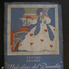 Catálogos de Música: MELODIAS DEL DANUBIO -CATALOGO PROGRAMA-KAPS JOHAM-TEATRO ESPAÑOL -VER FOTOS -(V-13.342). Lote 111283211