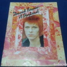 Catálogos de Música: BOOK DAVID BOWIE ( A PORTRAIT ) 1973 BY WISE PUBLICATIONS CON LAS LETRAS DE LAS CANCIONES. Lote 112221759