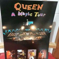 Catálogos de Música: QUEEN - FREDDIE MERCURY - A MAGIC TOUR- LIBRO- REINO UNIDO - TAPA BLANDA- 96 PAGINAS- PRECIOSO. Lote 112451479